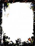 黑色花纹边框