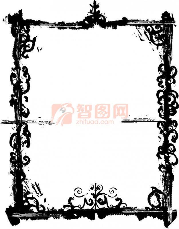 黑色边框 花纹图案