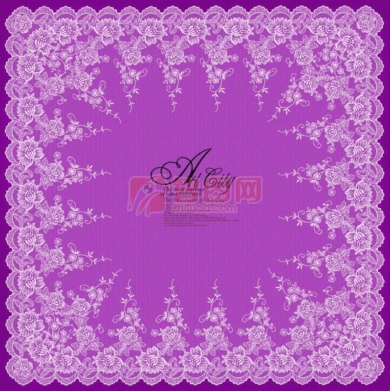 粉紫色婚礼边框
