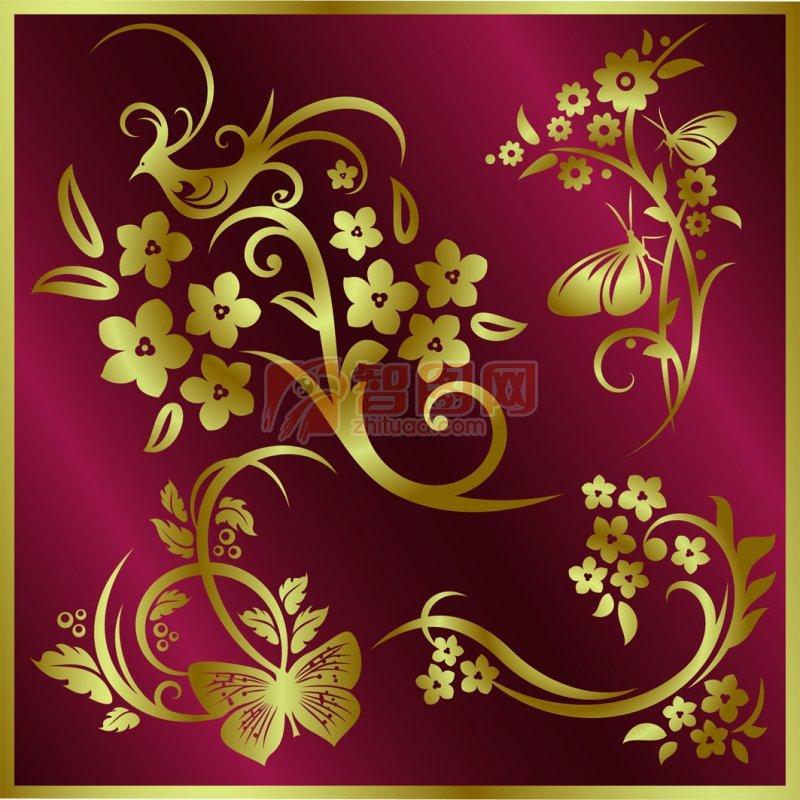 金色化蝶花儿