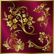 金色化蝶花兒
