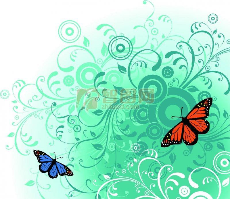 蝴蝶儿花纹