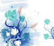 水彩色花纹