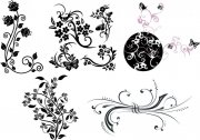 黑色花朵花纹