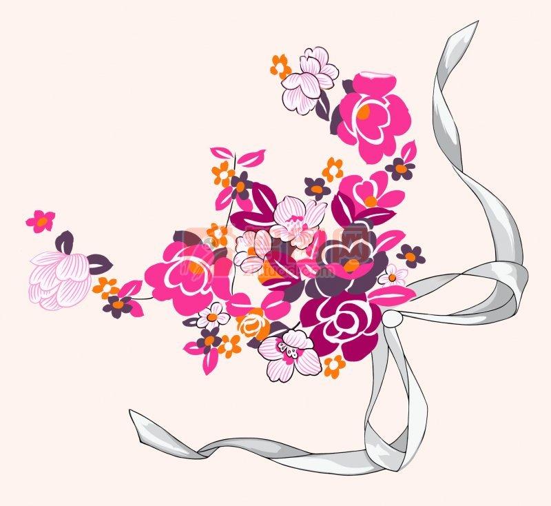 蝴蝶結花紋