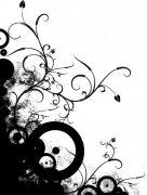 黑色色彩花纹