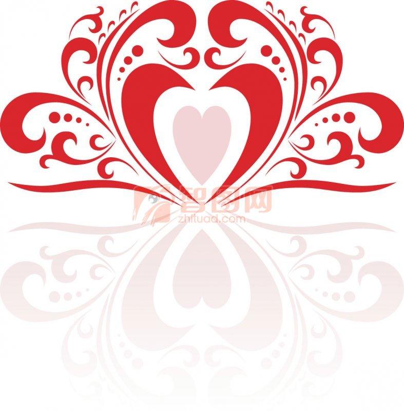 紅白相間花紋