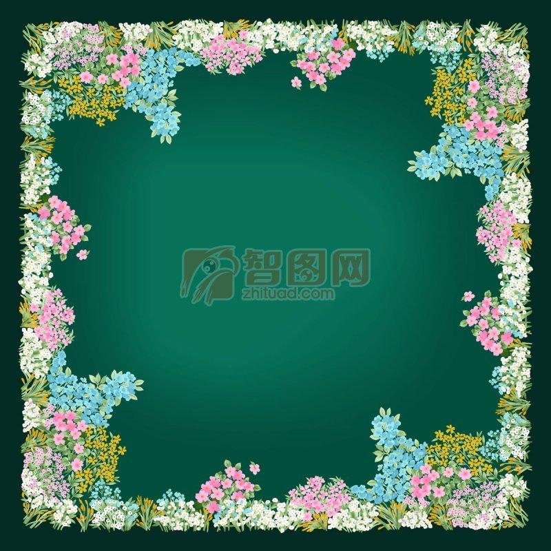 暗綠色花邊