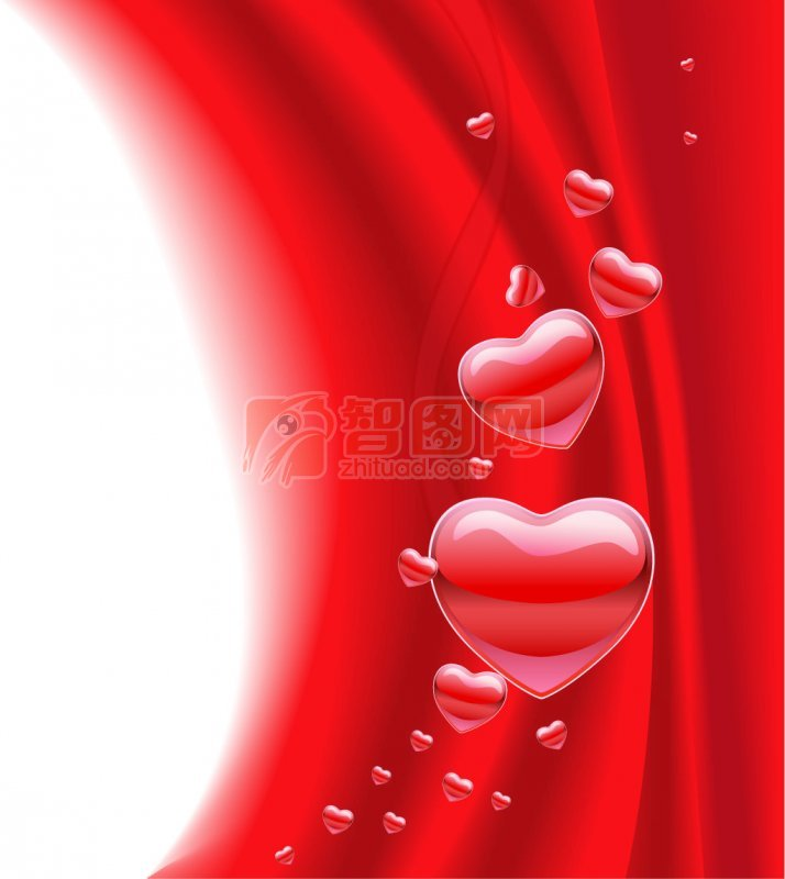 红色可爱ppt背景