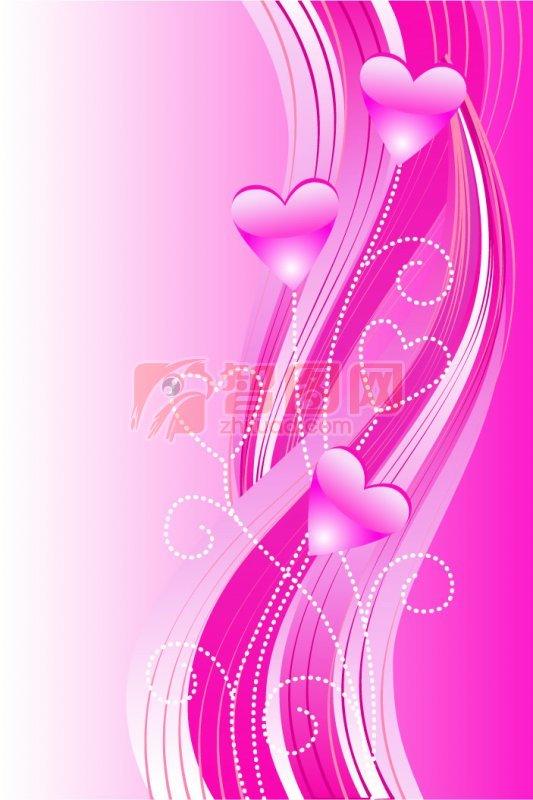 粉紅線條花紋