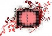 红色花朵花纹
