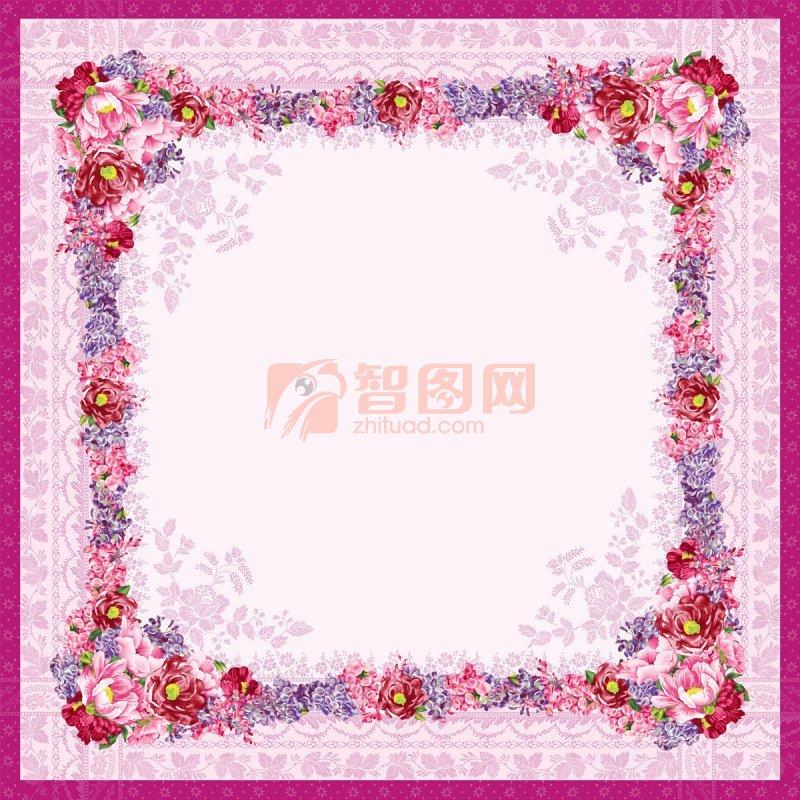 粉紫色花边