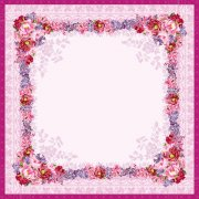 粉紫色花邊