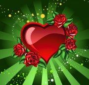 矢量心形 红心花朵 红色爱心 AI格式鸡心矢量 AI矢量图库