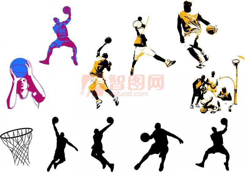 篮球动作花纹