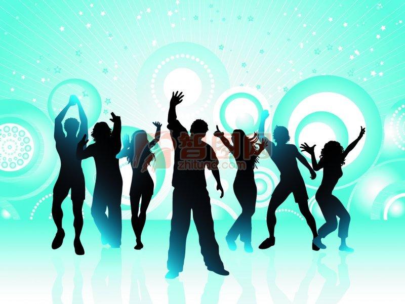 跳舞矢量圖