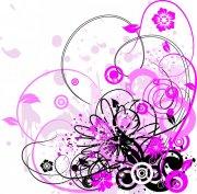 植物花紋矢量圖