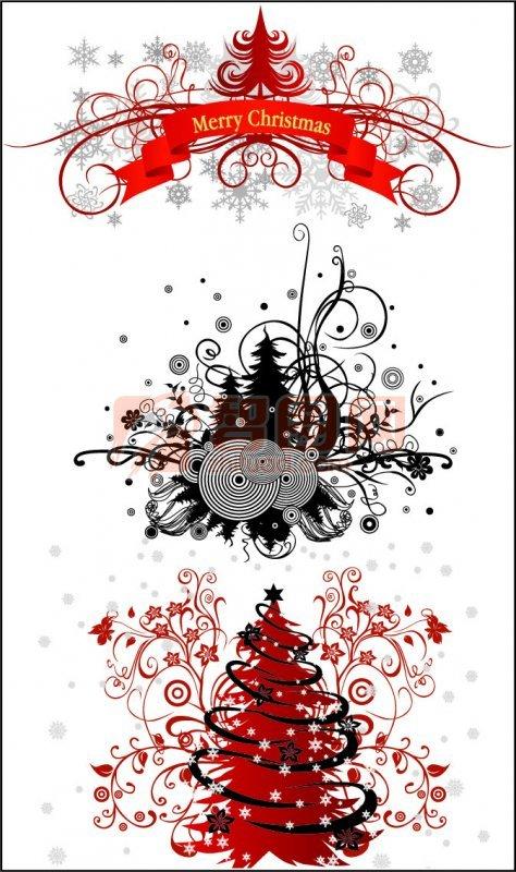 圣誕背景的精美花紋