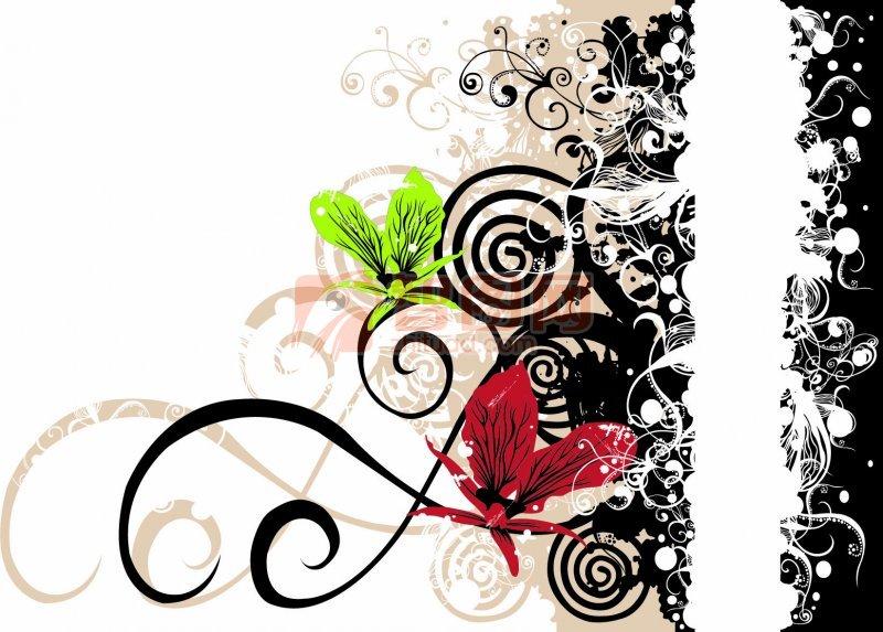 花边花纹图案