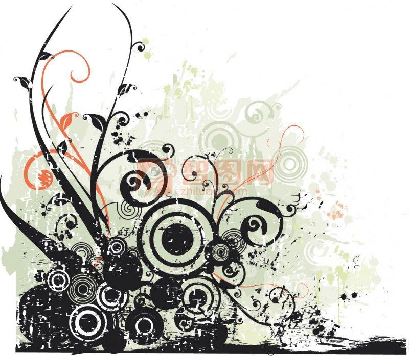 古典传统花卉花纹背景