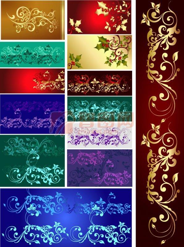 各种色彩的花纹