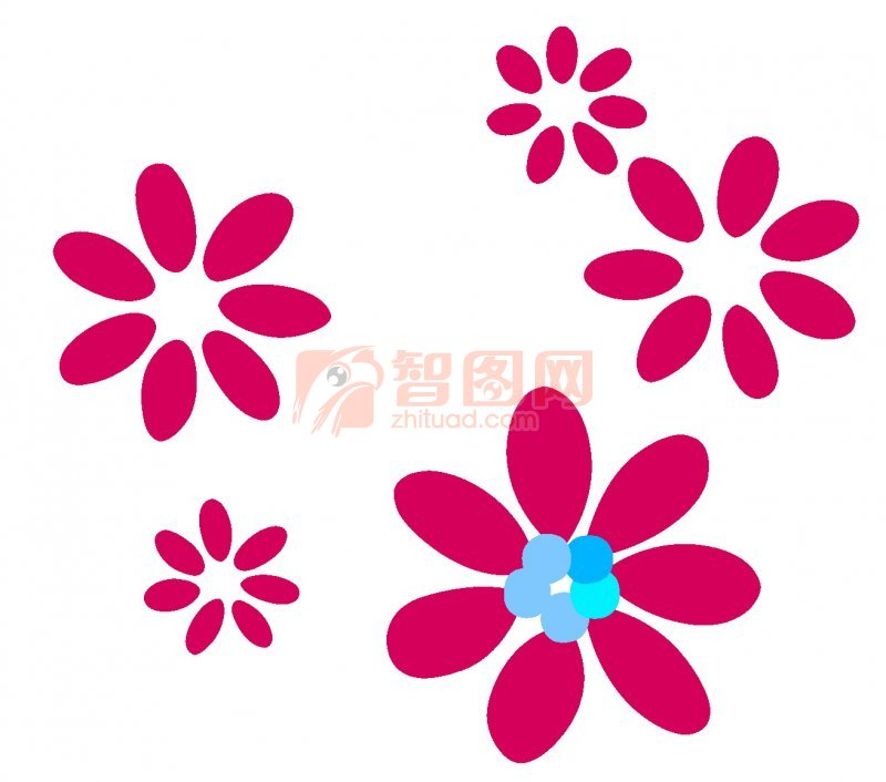 底纹边框 背景底纹  关键词: 小花 小花朵图案 紫色小花素材 雅致小花