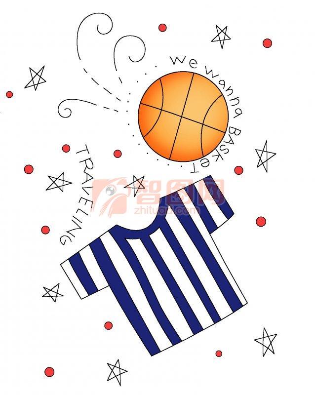 篮球卡通画