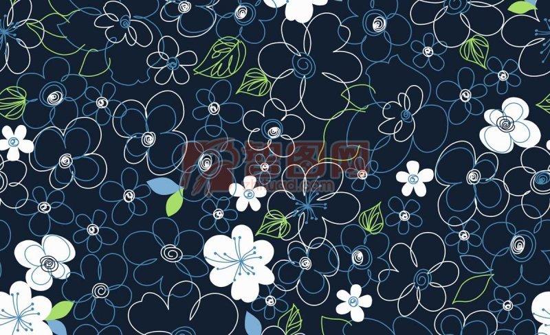 【psd】黑色花纹背景