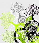 树形变形花纹