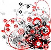 紅色灰色花紋