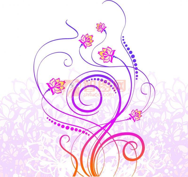 紫色渐变花纹