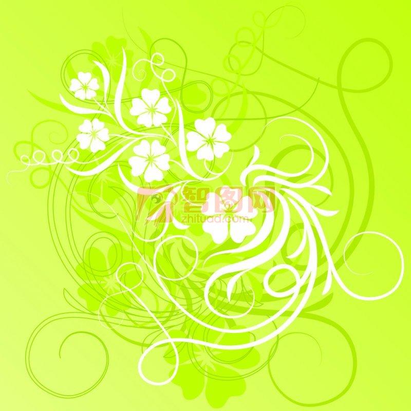 白色花紋素材