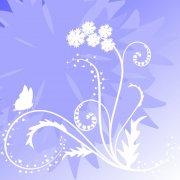 蓝紫色渐变花纹