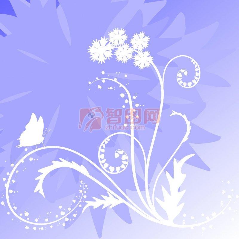 藍紫色漸變花紋