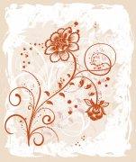 土黄色欧式花纹