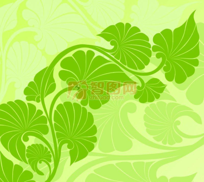 底纹边框 花纹花边  关键词: 绿色背景 绿色花纹 欧式花纹素材 说明