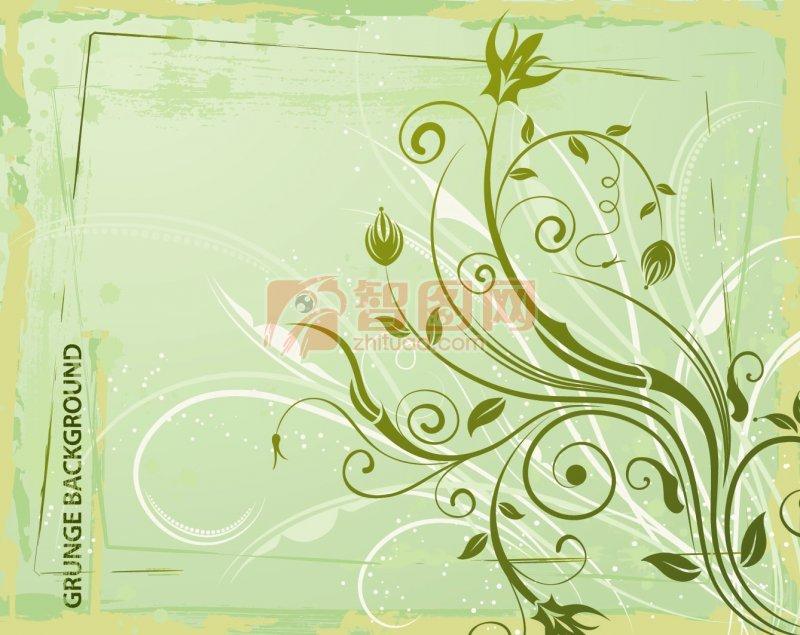 关键词: 绿色背景 绿色花纹 欧式花纹素材 说明:-绿色花纹 上一张