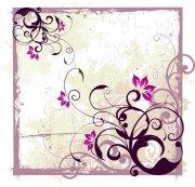 紫色花纹边框