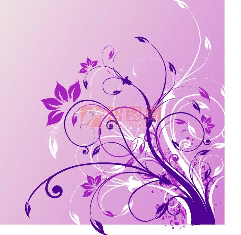 紫色花纹·