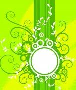 黄绿色花纹