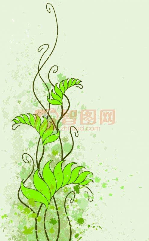 花纹花边  关键词: 绿色背景