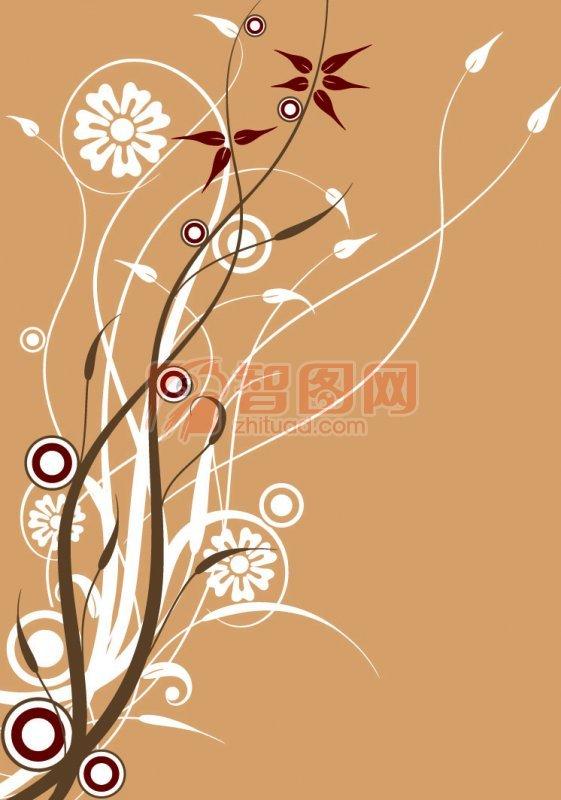 关键词: 咖啡色背景 白色花纹 深色花纹 欧式花纹素材 说明:-咖啡色