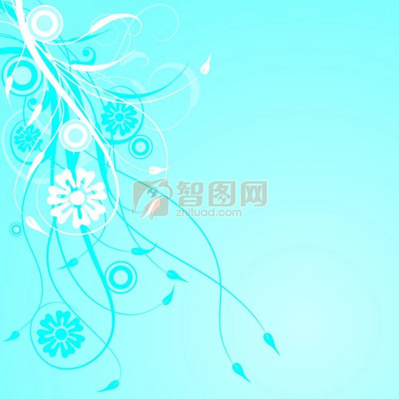花纹花边  关键词: 蓝色背景
