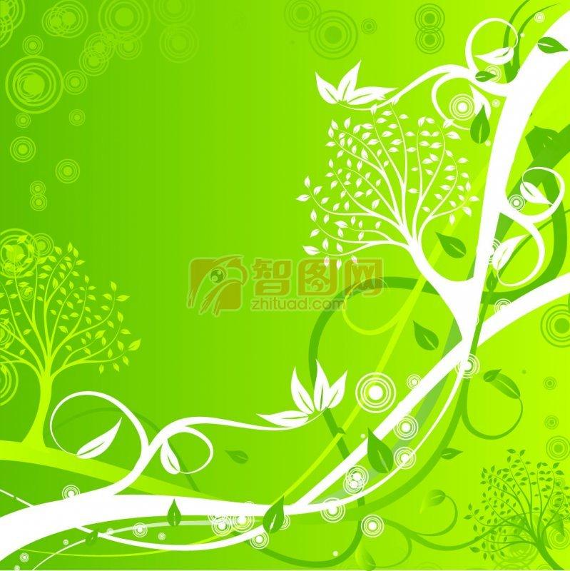 底纹边框 花纹花边  关键词: 绿色背景 白色花纹 黄色花纹 欧式花纹