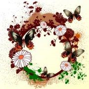 圓形花紋邊框