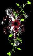 红花绿叶花纹