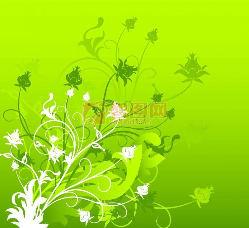 手抄报花边绿色树叶手绘 边框