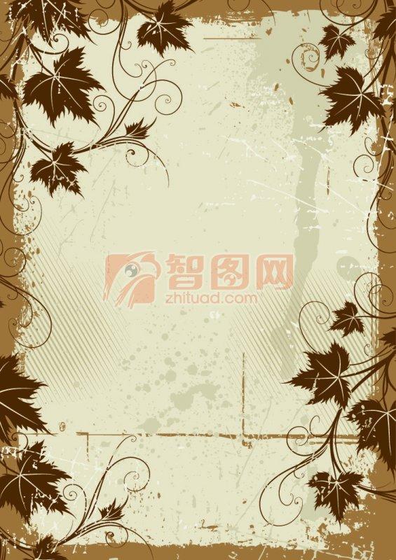復古花紋邊框