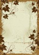 复古花纹边框