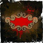 復古歐式花紋